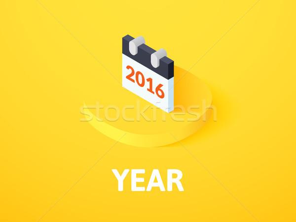 год изометрический икона изолированный цвета вектора Сток-фото © sidmay