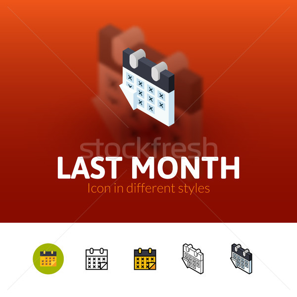 Stock photo: Last month icon in different style