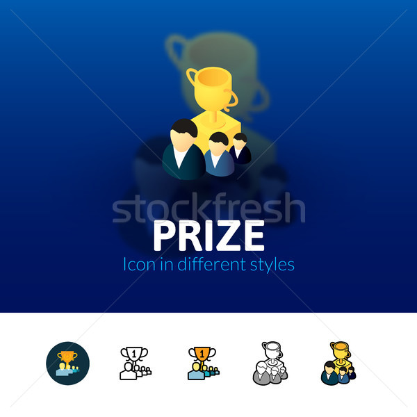Prize icon in different style Stock photo © sidmay