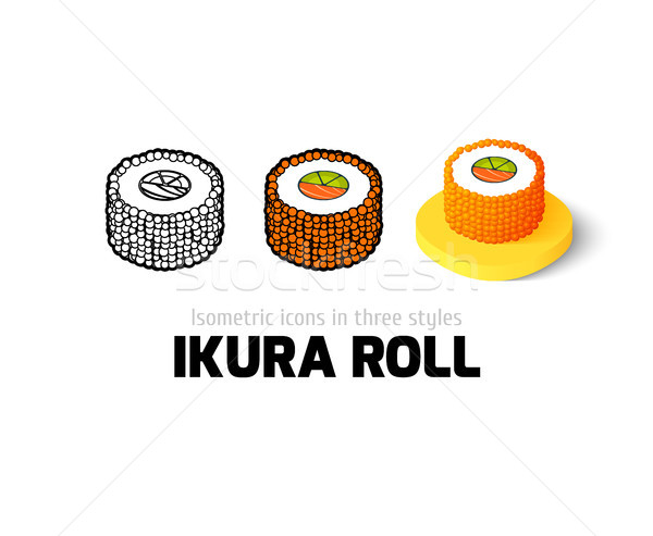 Ikura roll icon in different style Stock photo © sidmay
