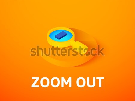 ズーム 外に アイソメトリック アイコン 孤立した 色 ストックフォト © sidmay