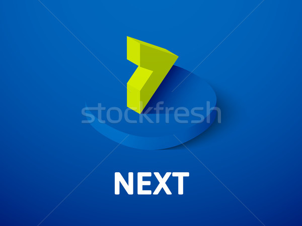 Next isometric icon, isolated on color background Stock photo © sidmay