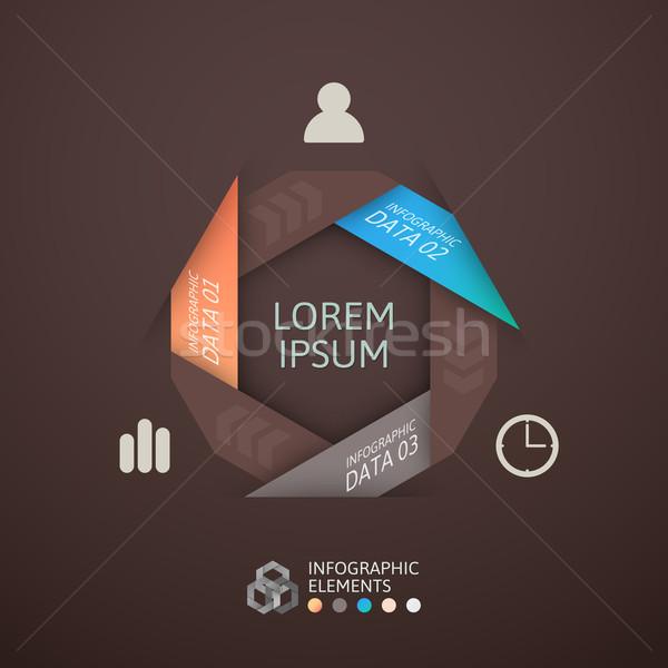 Modern üzlet lépés origami stílus lehetőségek Stock fotó © sidmay