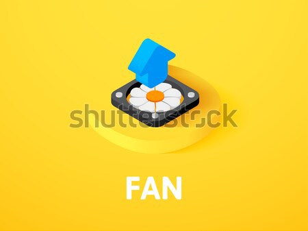 Fan icon in different style Stock photo © sidmay