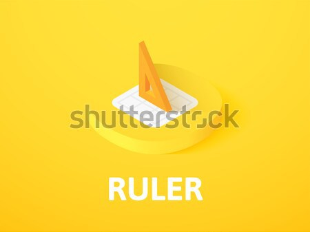 Ruler icon in different style Stock photo © sidmay