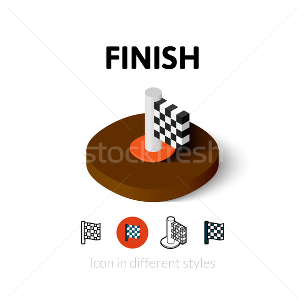 Finish icon in different style Stock photo © sidmay