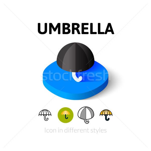 Guarda-chuva ícone diferente estilo vetor símbolo Foto stock © sidmay