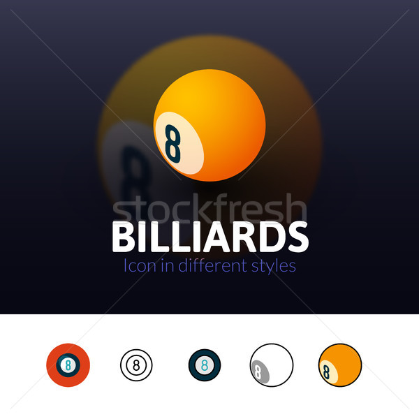 Billiards icon in different style Stock photo © sidmay