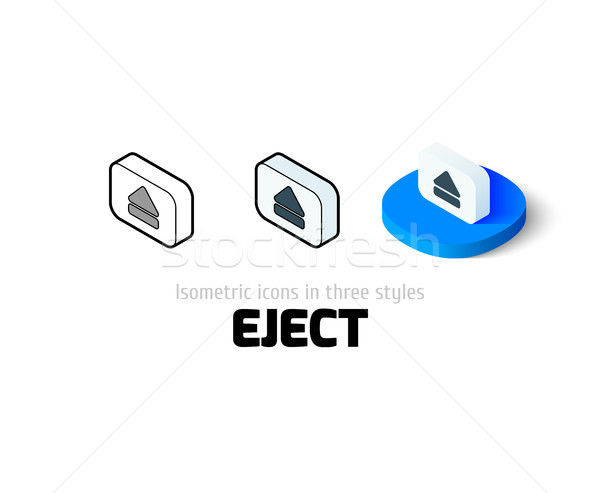 Eject icon in different style Stock photo © sidmay