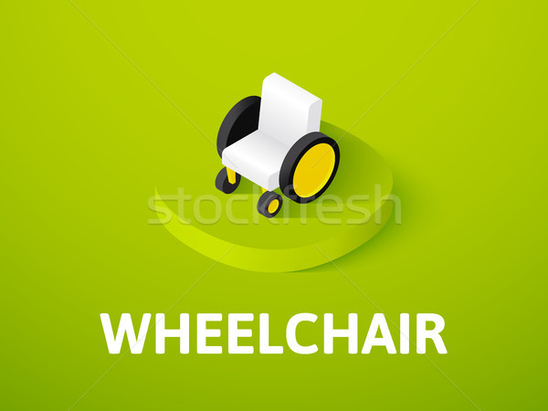 Wheelchair isometric icon, isolated on color background Stock photo © sidmay
