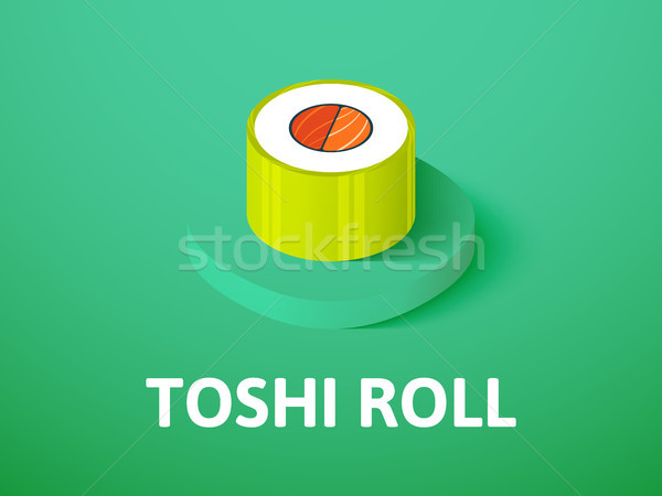 Toshi roll isometric icon, isolated on color background Stock photo © sidmay