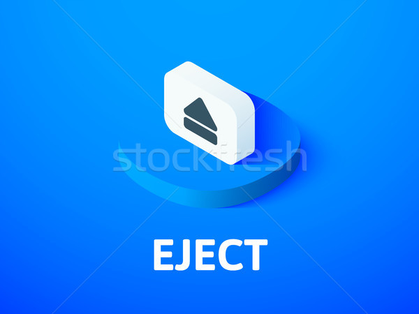 Eject isometric icon, isolated on color background Stock photo © sidmay