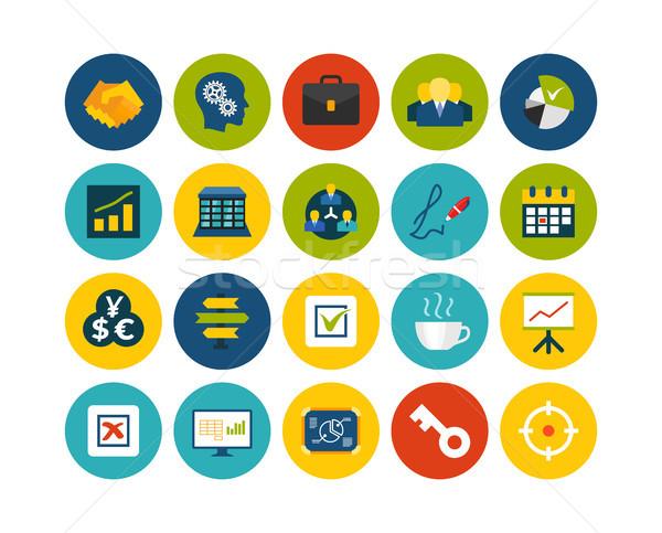 Flat icons set 25 Stock photo © sidmay