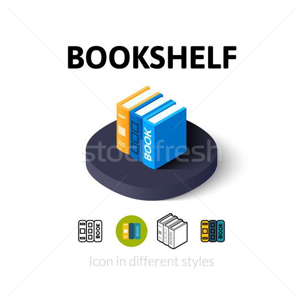 Prateleira de livros ícone diferente estilo vetor símbolo Foto stock © sidmay