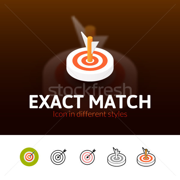 Exact match icon in different style Stock photo © sidmay