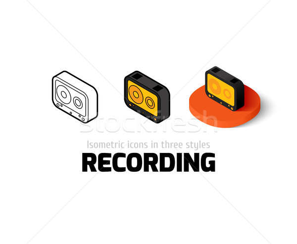 Recording icon in different style Stock photo © sidmay
