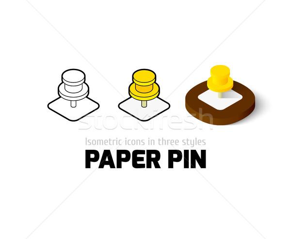 Papel pin ícone diferente estilo vetor Foto stock © sidmay