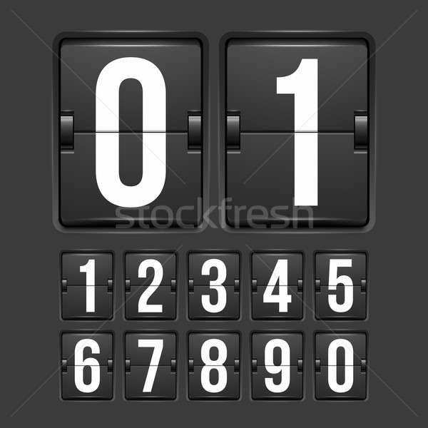 Countdown timer witte kleur mechanisch scorebord Stockfoto © sidmay