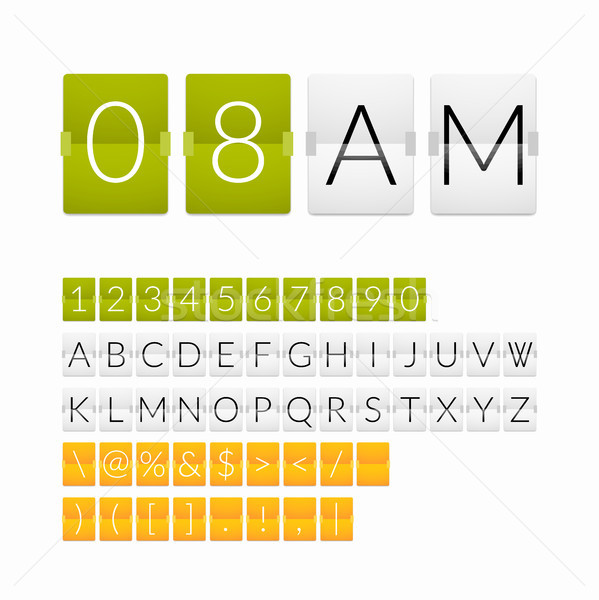 Flat countdown timer, white paper style Stock photo © sidmay