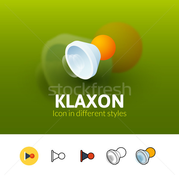 Klaxon icon in different style Stock photo © sidmay