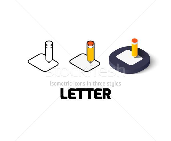 Carta ícone diferente estilo vetor símbolo Foto stock © sidmay