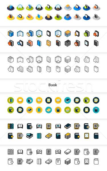 Establecer iconos diferente estilo Foto stock © sidmay