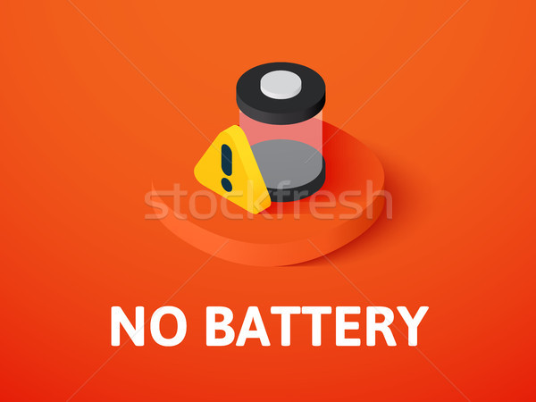 No battery isometric icon, isolated on color background Stock photo © sidmay