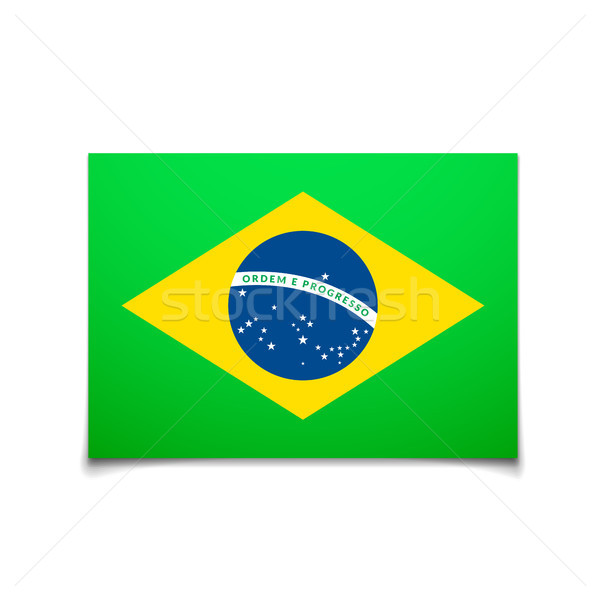 Brazil flag isolated on white Stock photo © sidmay