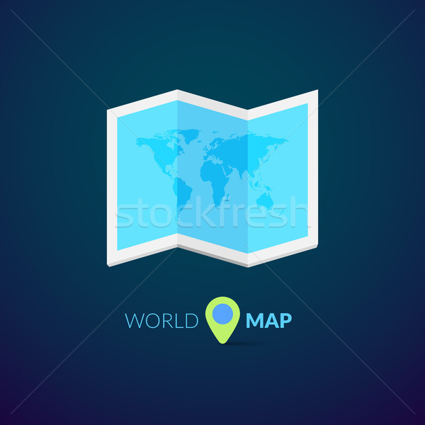 World map logo with pointer Stock photo © sidmay