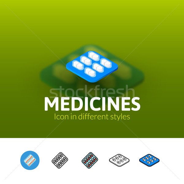 Medicines icon in different style Stock photo © sidmay