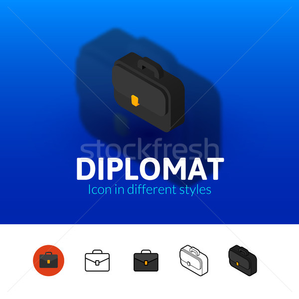 Diplomat icon in different style Stock photo © sidmay