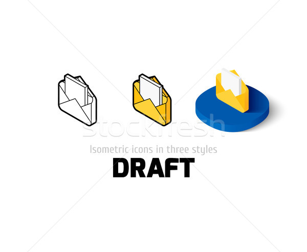 Draft icon in different style Stock photo © sidmay