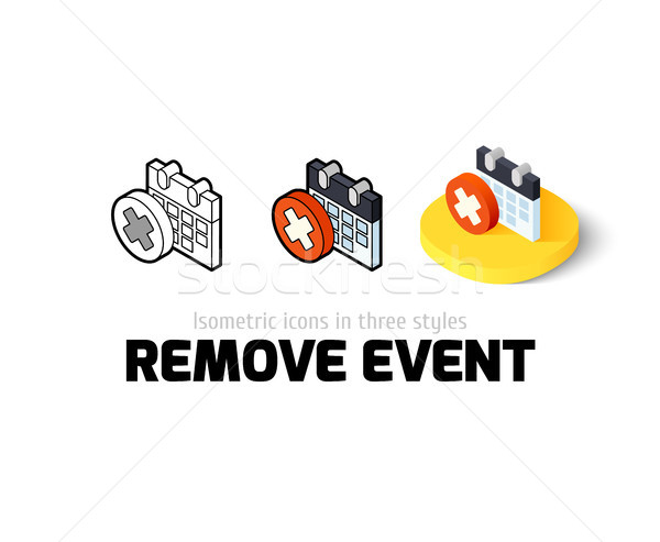 Remove event icon in different style Stock photo © sidmay