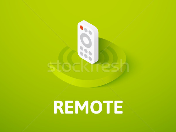 Remote isometric icon, isolated on color background Stock photo © sidmay