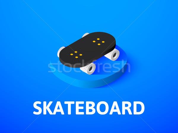 Skateboard isométrique icône isolé couleur vecteur Photo stock © sidmay