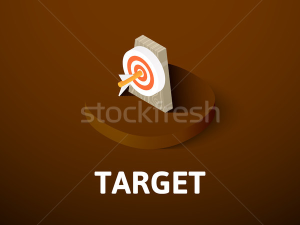 Target isometric icon, isolated on color background Stock photo © sidmay