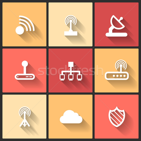 Vector design flat icons Stock photo © sidmay