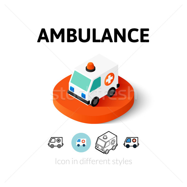 Ambulance icon in different style Stock photo © sidmay