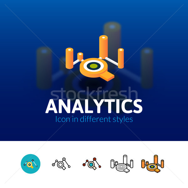 Analytics icon in different style Stock photo © sidmay