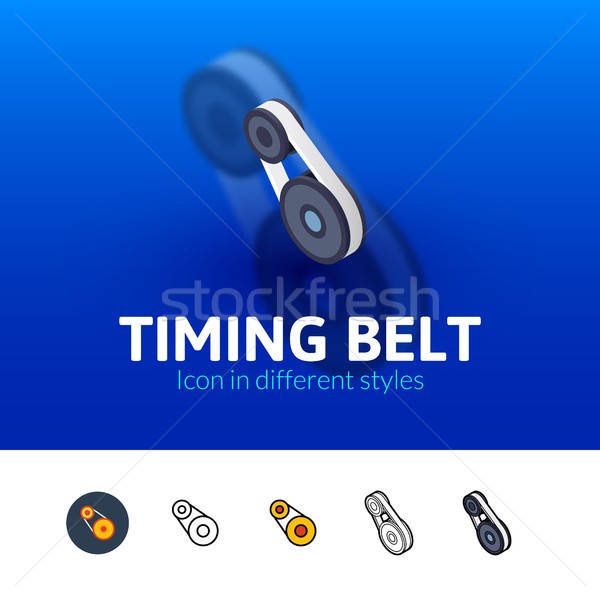 Timing belt icon in different style Stock photo © sidmay