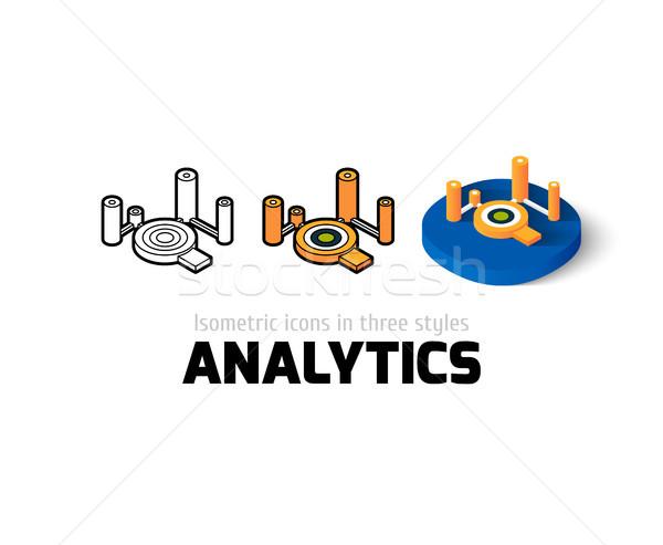 Analitika ikon különböző stílus vektor szimbólum Stock fotó © sidmay