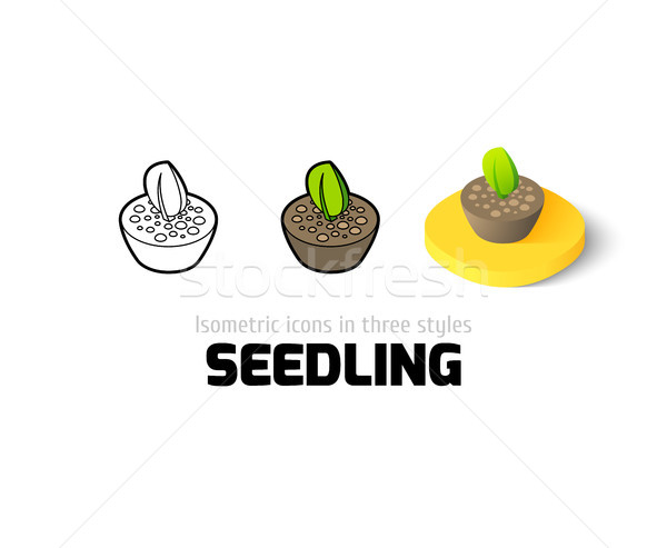 Seedling icon in different style Stock photo © sidmay
