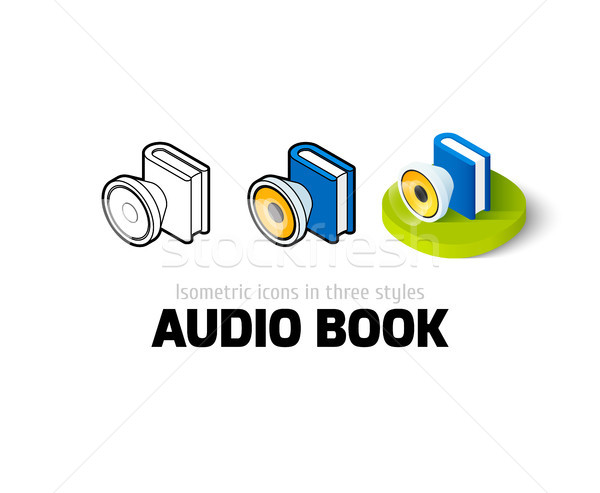 Audio book icon in different style Stock photo © sidmay