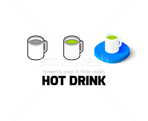 Warme drank icon verschillend stijl vector symbool Stockfoto © sidmay