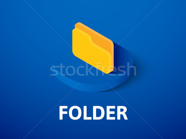 Folder isometric icon, isolated on color background Stock photo © sidmay