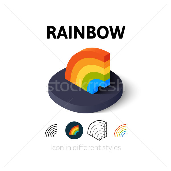 Rainbow icon in different style Stock photo © sidmay