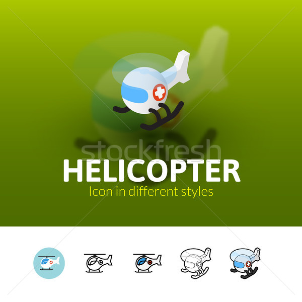 Helicopter icon in different style Stock photo © sidmay