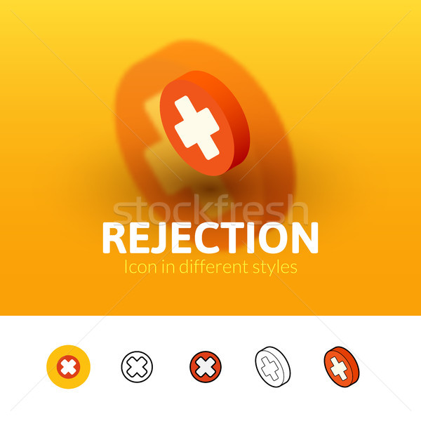 Rejection icon in different style Stock photo © sidmay