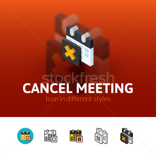Cancel meeting icon in different style Stock photo © sidmay