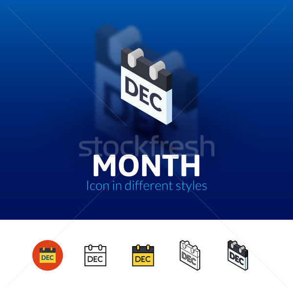 Month icon in different style Stock photo © sidmay